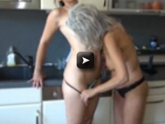 Old Nanny sexy lesbian mature and brunette girl fucking