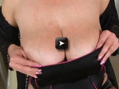 Busty Kimi Fucks her wet pussy with it