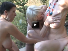Mature NL Kinky mature group sex in the woods