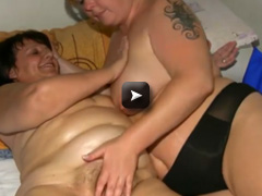 OldNanny Chubby mature with chubby lady masturbating their pussy