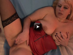 Mature NL Blonde MILF Nikole loves to jerk off alone